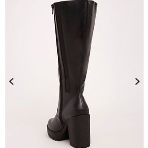 d60e303022ae torrid Shoes - Lug Heel Knee-High Boots (Wide Width   Wide Calf)